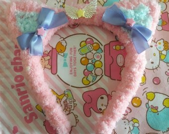 C.Kitty Headband(pink)