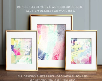 Abstract painting set, PRINTABLE art, Gallery wall art, Modern art, Abstract prints, Modern prints, Pastel art, Abstract art,Modern abstract