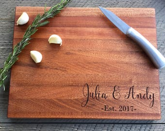 Custom Cutting Board, Wedding Gift, Personalized cutting board, Engraved Cutting Board, Christmas Gift, Walnut cutting board