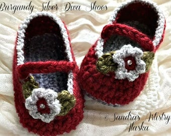 Diva Baby Shoes (2 Color Schemes-3 Szs Ea)