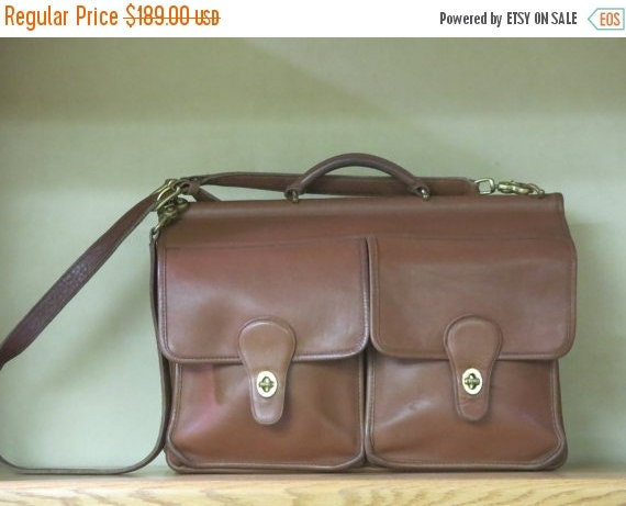 Football Days Sale Coach Kensington Briefcase Attache Laptop IPad Carrier in British Tan- Style No 5279- VGC Made In U.S.A. -Rare Find