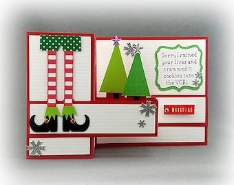 Handmade Elf  Holiday Card 3