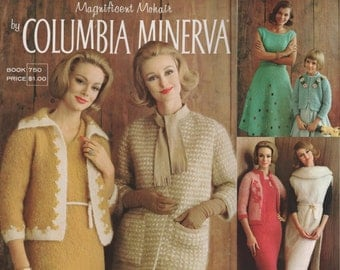 Vintage Knitting Patterns COLUMBIA MINERVA 750 Magnificent Mohair PDF Instant Download 1960s Knitting 1960s Sweaters 1960s Pattern Book