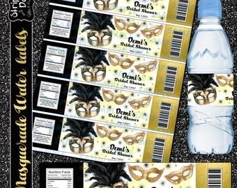 Masquerade labels,Masquerade party, Masquerade water labels, Masquerade favors,Carnival Water label,Carnival party,Carnival favors,carnival