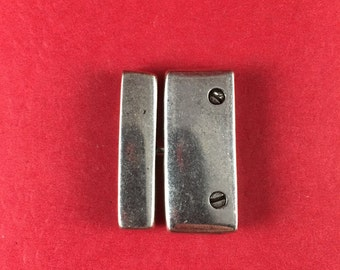 5/7 MADE in EUROPE zamak toggle clasp, large zamak clasp, silver 30mm clasp(6342) qty1