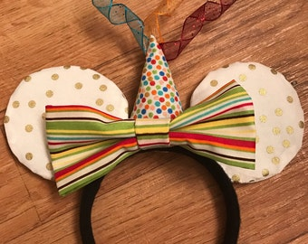 Birthday Mickey Ears, Party Hat Disney Inspired Ears