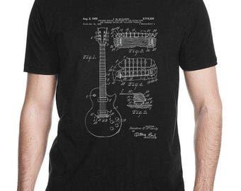 Gibson Les Paul Guitar T-shirt, Gibson Les Paul Guitar Patent, Gibson Les Paul Guitar Clothing, Gibson Guitar Mens T-Shirt, Unisex Shirt