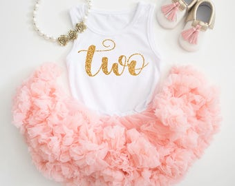 2nd Birthday Outfit, Girl birthday outfit, birthday outfit, first birthday outfit, Gold glitter shirt, 1st birthday girl