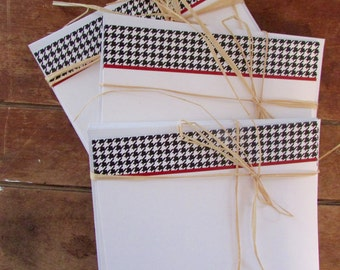 Houndstooth Note Cards - Flat