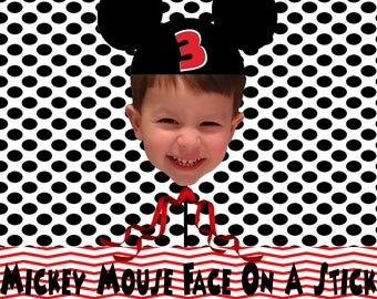 Mickey Mouse Face On A Stick