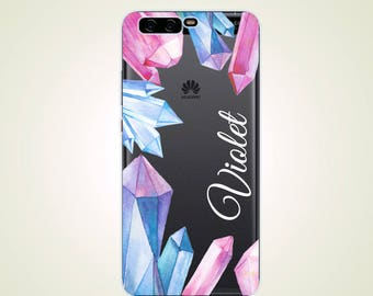 Custom Name Crystal Opal Personalized case P7 case P8 case P9 case P10 Mate 9 case Mate 9 Pro case Mate 7 case Mate 8 case