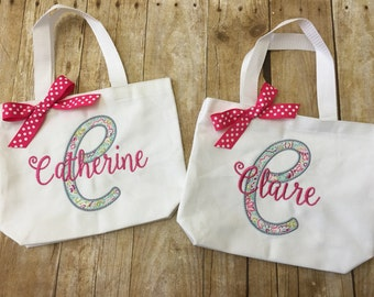 Personalized Girls Tote Bag - Little Girls Purse