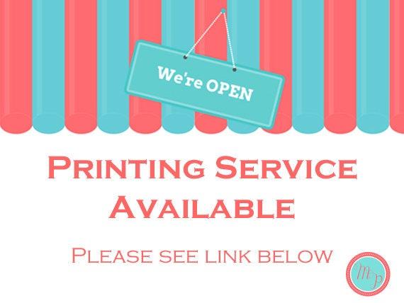 PRINTING SERVICE for Magical Printable Customers