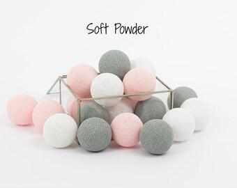Cotton Ball Lights 20 balls cholours to choose