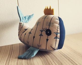Don Parker the balreine / Soft toy Whale
