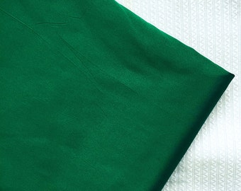 CIJ SALE Art Silk fabric, silk fabric, green silk, polyester silk, taffeta fabric, faux silk, polyester taffeta- EMERALD Green- PS31