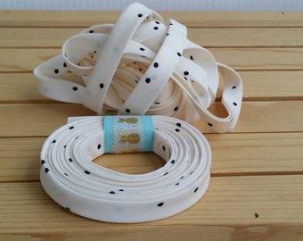 "3 yard rolls of 1/2"" double fold biastape binding, hello bear firefly whisper, quilt binding, garment tape."