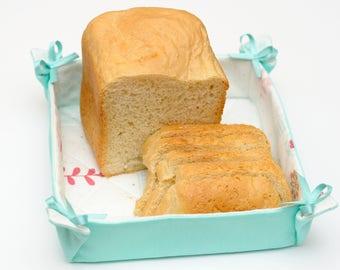 Fabric bread basket Craft storage Storage basket Kitchen organizer Table basket  Kitchen decor Organizer basket Homemade baskets Mother gift