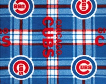 Chicago Cubs Fabric Etsy