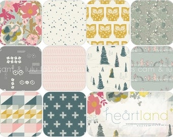 HEARTLAND by Pat Bravo - Art Gallery Fabrics  - 10 Piece FAT QUARTER Bundle - 10 Prints
