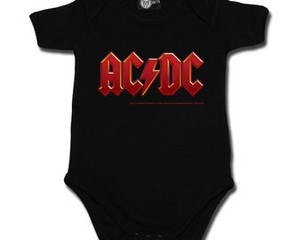 Baby rompers, AC/DC logo Red