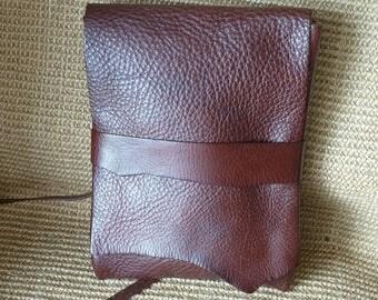 SCKLeather Handmade Soft Milled Veg Tanned Leather Shoulder/Messenger Bag