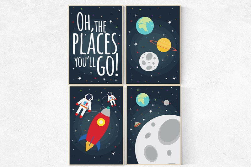 Oh The Places You Ll Go Space Nursery Decor Outer Space