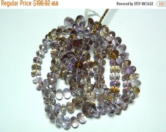 ON SALE 50% Beautiful AAA Ametrine - Ametrine Faceted Rondelles 8mm To 14mm  - 17 Inch Strand 55 Pieces Full Strand