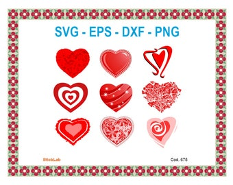 heart svg files eps dxf png
