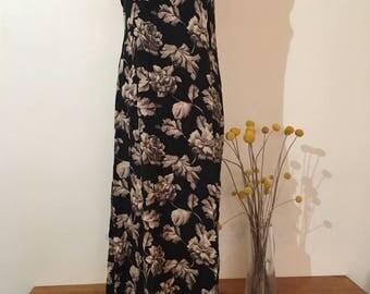 Vintage floral cotton dress