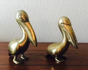 Vintage Brass Pelicans