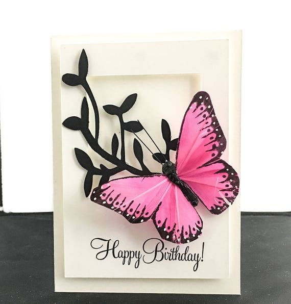 Butterfly Happy Birthday Card Happy Birthday Card Butterfly – Butterfly Birthday Card