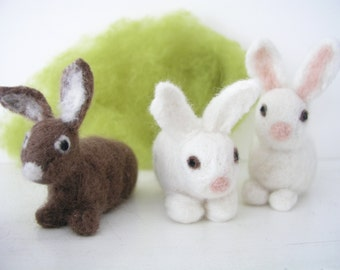 Rabbit, Easter Bunny, felted