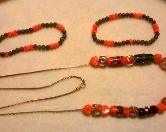 Jewelry necklaces, bracelets, earrings, a la carte or in sets, see descriptions