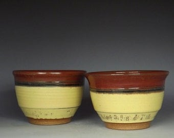 """20oz. """"Soup/Cereal Bowl Set"""" 1004SCBS , Set of 2, Handmade Bowls, Small mixing bowls... (Free Shipping in US)"""