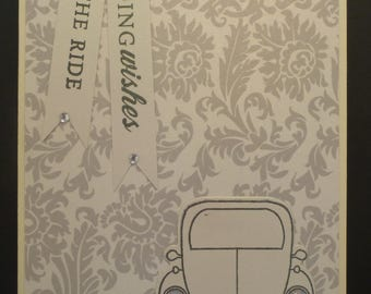 Just Married VW Wedding Card 1543