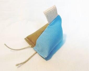 CAT 1.0-Organic Cotton, Hemp, Catnip Toy / Single Toy - Sky Blue/Khaki