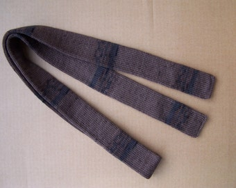 unique knitted skinny shades of dark and milk chocolate brown necktie skinny scarf a cool gift for a cool season Christmas gift