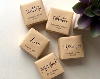 25 Personalized Thank You Mini Soap Favors, wedding soap favors, personalized wedding favors, custom soap favors