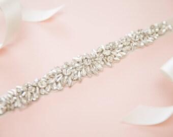 Bridal belt - bridal sash - rhinestone belt - wedding belt - wedding sash - wedding dress sash -wedding dress belt