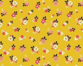 Riley Blake Vintage Floral Gold 100% Cotton