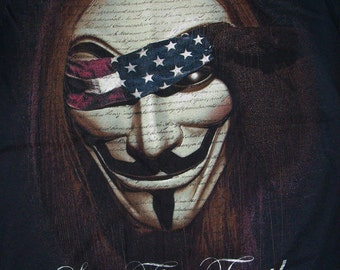 Brand New Guy Fawkes V For Vendetta We The People See The Truth U.S.A Shirt Small, Large, and XL Available Free Same Day Shipping