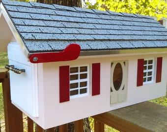 Custom Wood Mailbox Country Home. Luxury Trim. Any Color .Weatherproof.