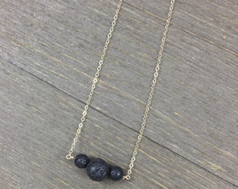 3 Stone Diffuser Necklace