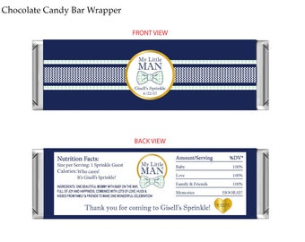 Baby Sprinkle Chocolate Candy Bar Wrapper