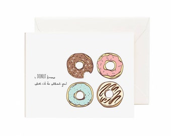 "Valentine's Day ""I Donut Know What I Do Without You""  Greeting Card"