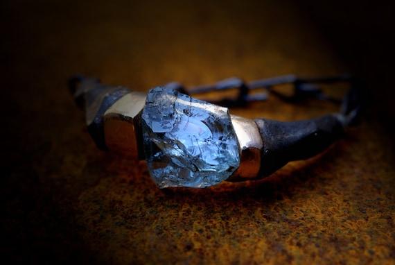 bracelet unisex  aquamarine