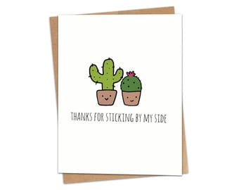Thanks For Sticking By My Side Greeting Card SKU C158