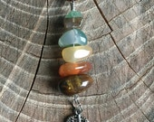 Leaf Cairn Stone Necklace