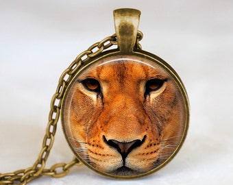 Lioness Face - Nature Animal Handmade Pendant Necklace